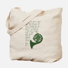 Funny French horns Tote Bag