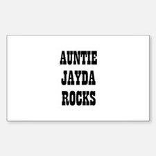 AUNTIE JAYDA ROCKS Rectangle Decal
