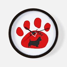 Australian Terrier Wall Clock