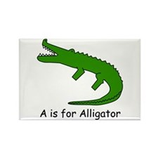 A is for Alligator Rectangle Magnet
