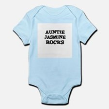 AUNTIE JASMINE ROCKS Infant Creeper
