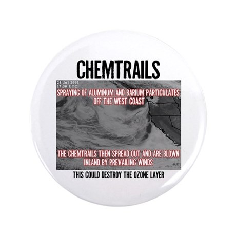 "Chemtrails 3.5"" Button (100 pack)"