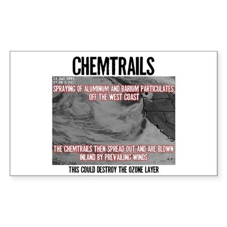 Chemtrails Rectangle Sticker