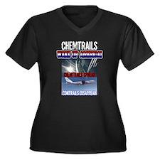 Chemtrails Women's Plus Size V-Neck Dark T-Shirt