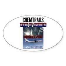 Chemtrails Oval Decal