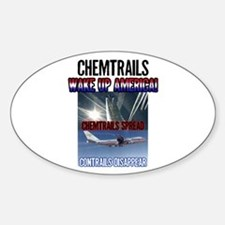 Chemtrails Oval Sticker (10 pk)