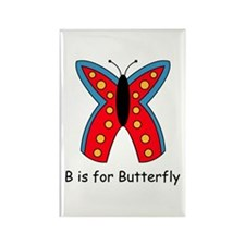 B is for Butterfly Rectangle Magnet (10 pack)