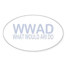 What Would Ari Do Oval Decal