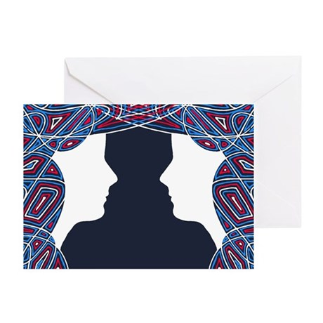 Twin Patriots Greeting Cards (Pk of 10)