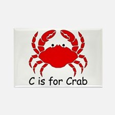 C is for Crab Rectangle Magnet