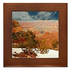 Snow at the Grand Canyon Framed Tile