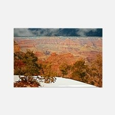 Snow at the Grand Canyon Rectangle Magnet