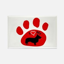 Cardigan Welsh Corgi Rectangle Magnet