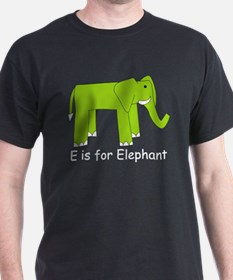 E is for Elephant T-Shirt