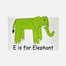 E is for Elephant Rectangle Magnet