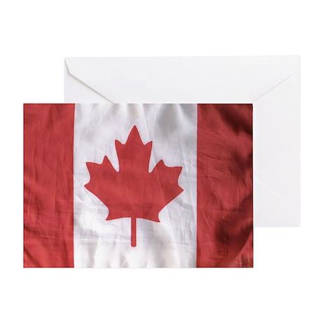 Canadian Flag Greeting Card By Tnguerillawomen