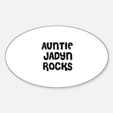 AUNTIE JADYN ROCKS Oval Decal