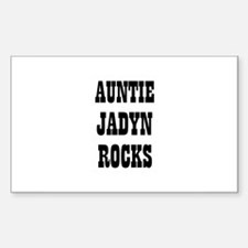 AUNTIE JADYN ROCKS Rectangle Decal