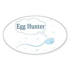 Egg Hunter sperm Oval Decal