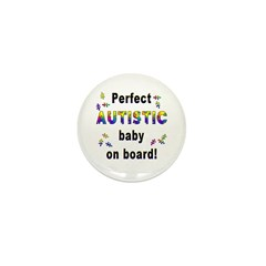 Autistic Baby On Board Mini Button (10 pack)