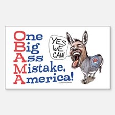 One Big Ass Mistake America Rectangle Bumper Stickers