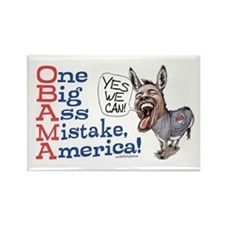 One Big Ass Mistake America Rectangle Magnet