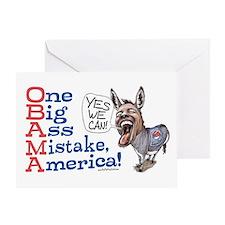 One Big Ass Mistake America Greeting Card