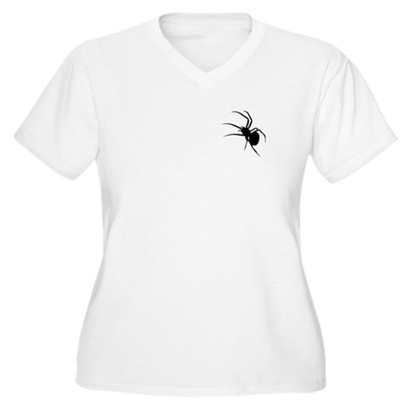 Spider On My Shirt! Women's Plus Size V-Neck T-Shi