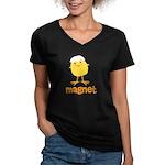 Chick Magnet Women's V-Neck Dark T-Shirt