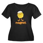 Chick Magnet Women's Plus Size Scoop Neck Dark T-S
