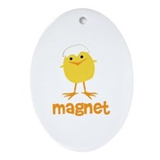 Chick Magnet Oval Ornament