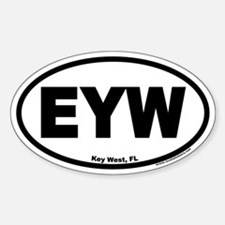 Key West Florida Airport Code Oval Sticker EYW