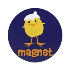 Chick Magnet Ornament (Round)