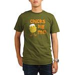 Chicks Dig Me Organic Men's T-Shirt (dark)