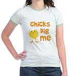 Chicks Dig Me Jr. Ringer T-Shirt