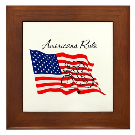 Americans Rule 03 Framed Tile