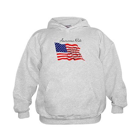 Americans Rule 03 Kids Hoodie