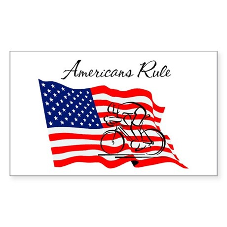 Americans Rule 03 Rectangle Sticker