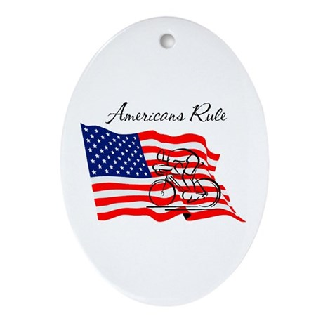 Americans Rule 03 Oval Ornament