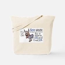 Never Assume Anti Obama Tote Bag