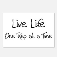 Live Life One Rep at a time Postcards (Package of