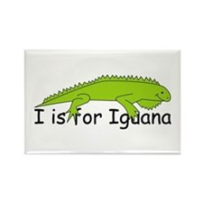 I is for Iguana Rectangle Magnet
