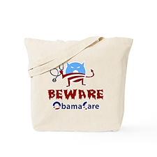 Beware ObamaCare Tote Bag