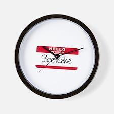 My Name is BEEFCAKE Wall Clock