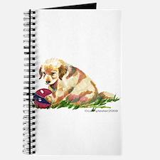 Golden Retriever Puppy with ball Journal