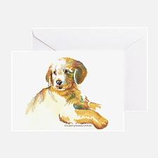 Golden Retriever puppy- darling Greeting Card