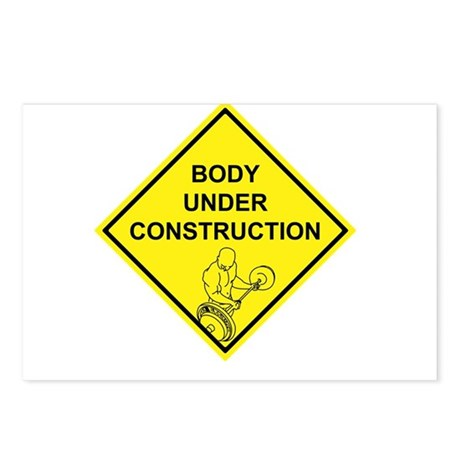 Body Under Construction Postcards (Package of 8)