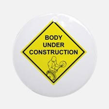 Body Under Construction Ornament (Round)