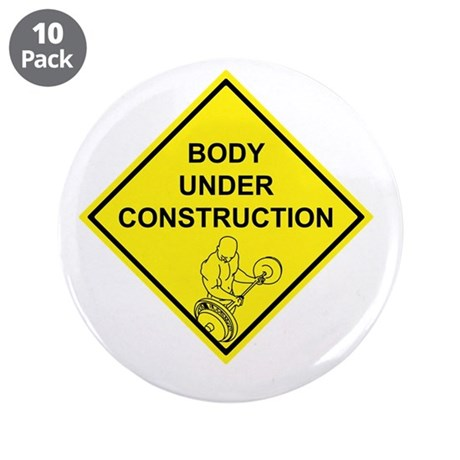 """Body Under Construction 3.5"""" Button (10 pack)"""