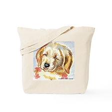 Golden Retriever puppy - head Tote Bag